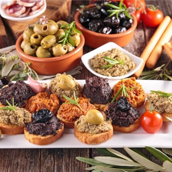 italiensk køkken antipasti